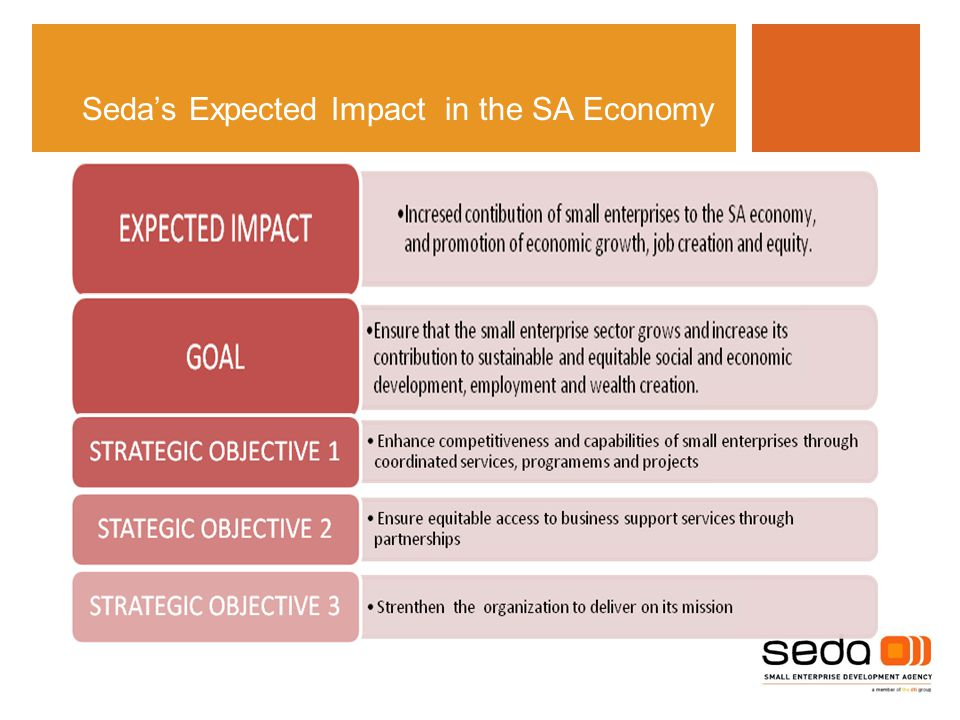 Seda's Expected Impact in the SA Economy