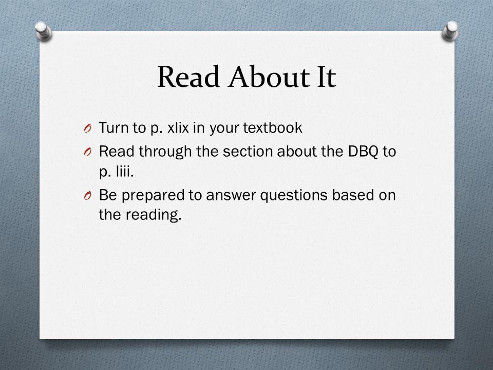 What is a DBQ in an AP class?