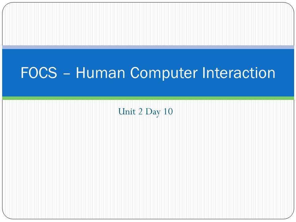 review of hci