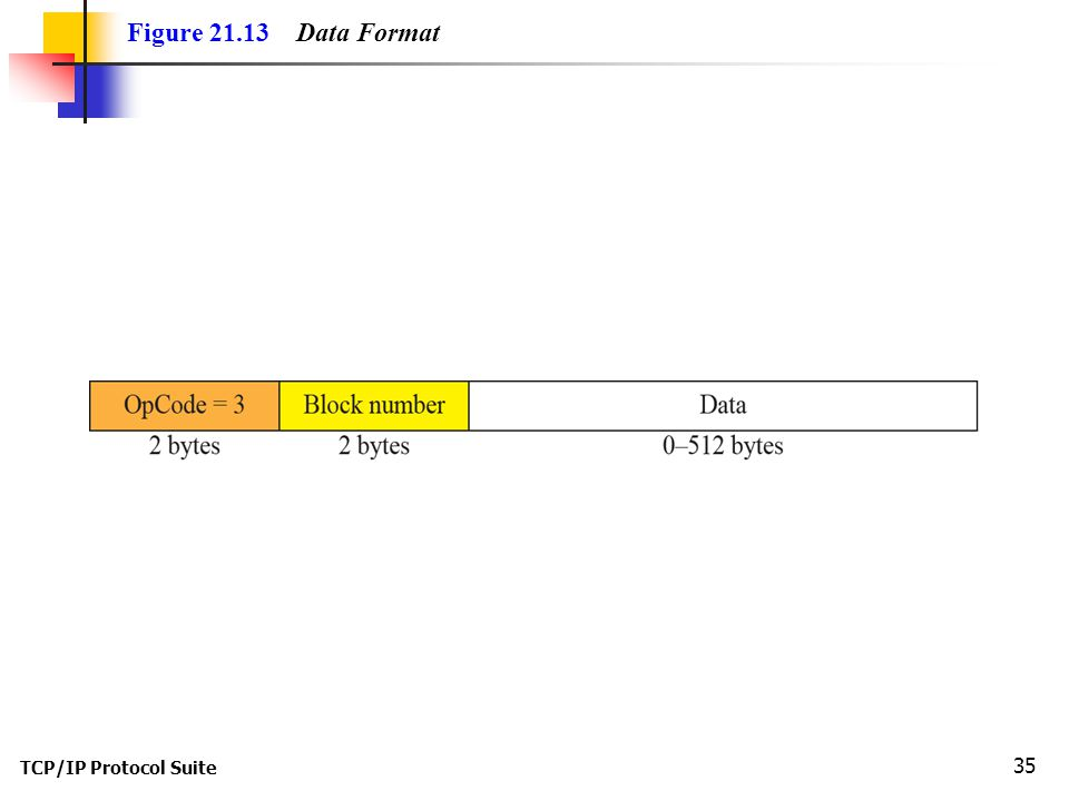 TCP/IP Protocol Suite 35 Figure Data Format