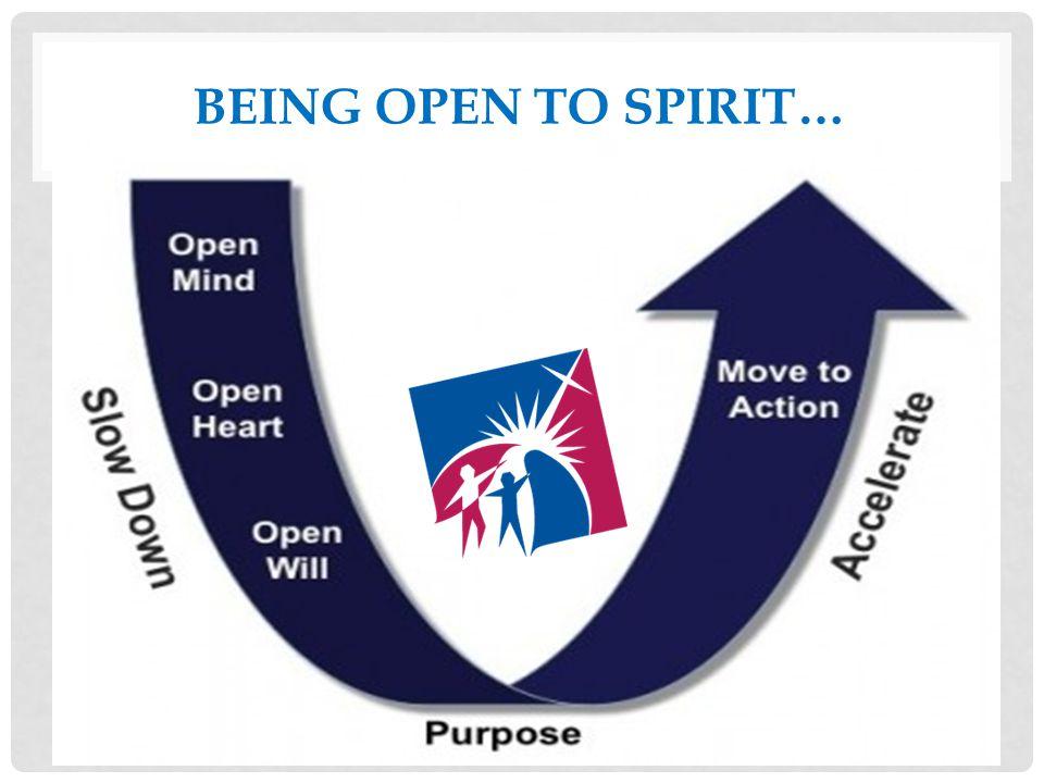 BEING OPEN TO SPIRIT…