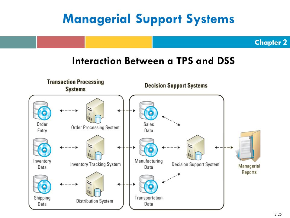 Chapter Managerial Support Systems Interaction Between a TPS and DSS