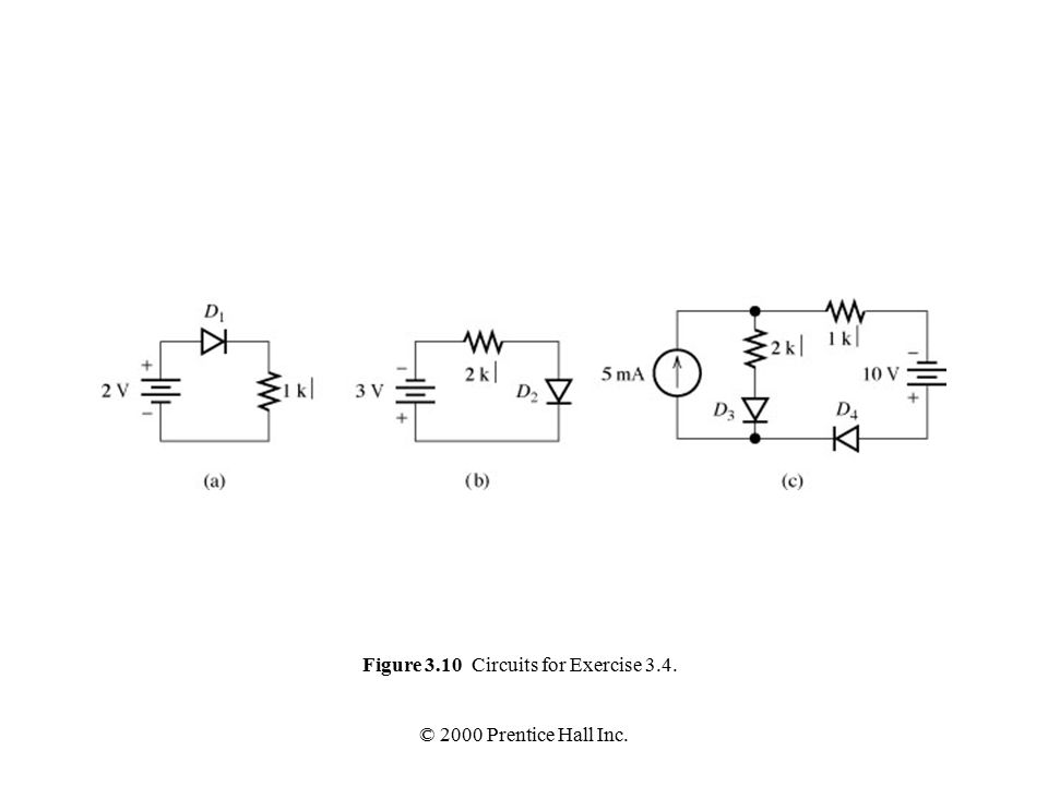 © 2000 Prentice Hall Inc. Figure 3.10 Circuits for Exercise 3.4.