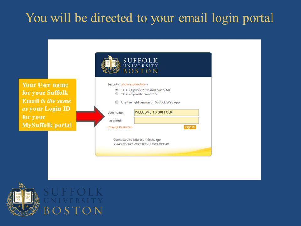 suffolk university email login