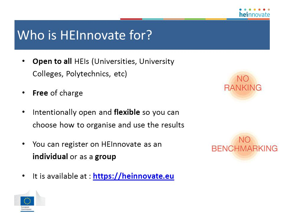 Who is HEInnovate for.