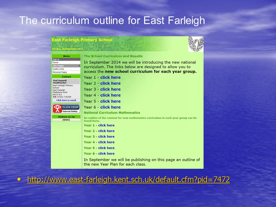 pid= pid= pid=7472 The curriculum outline for East Farleigh