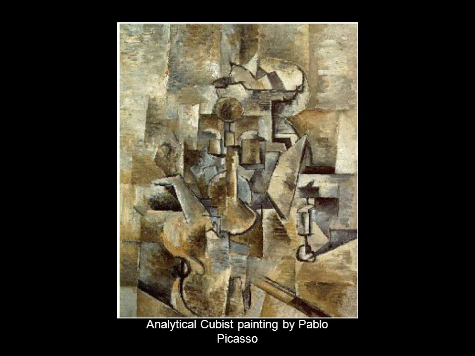 Analytical Cubist painting by Pablo Picasso