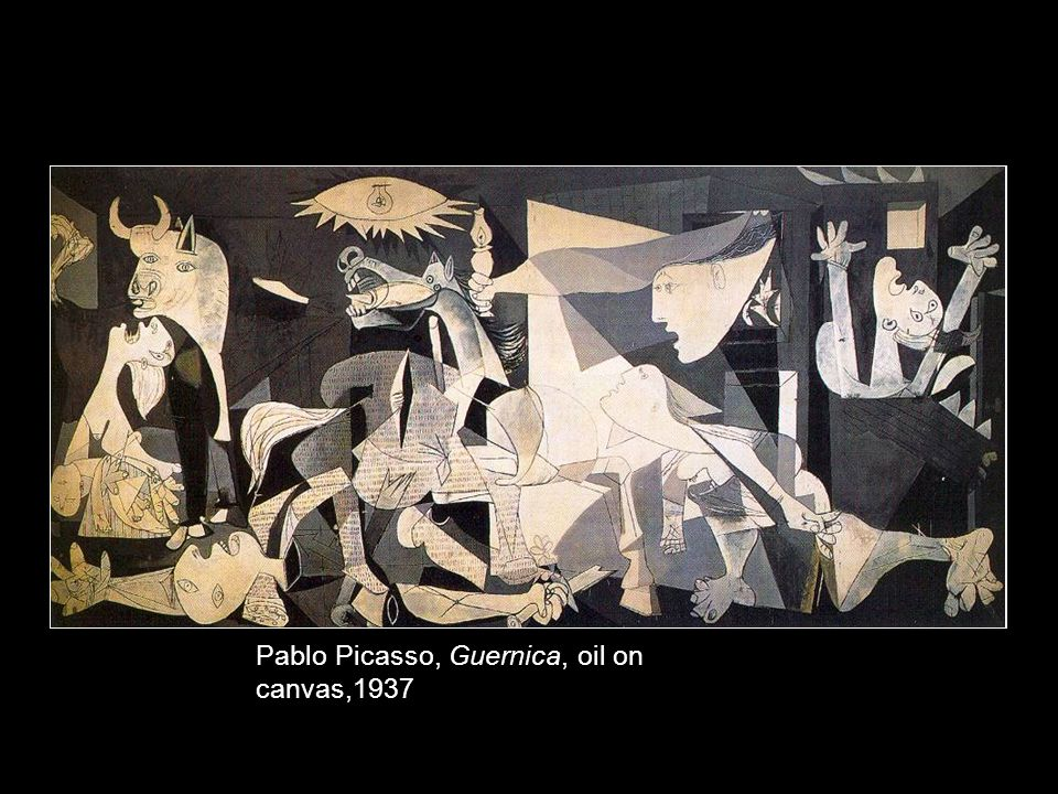 Pablo Picasso, Guernica, oil on canvas,1937