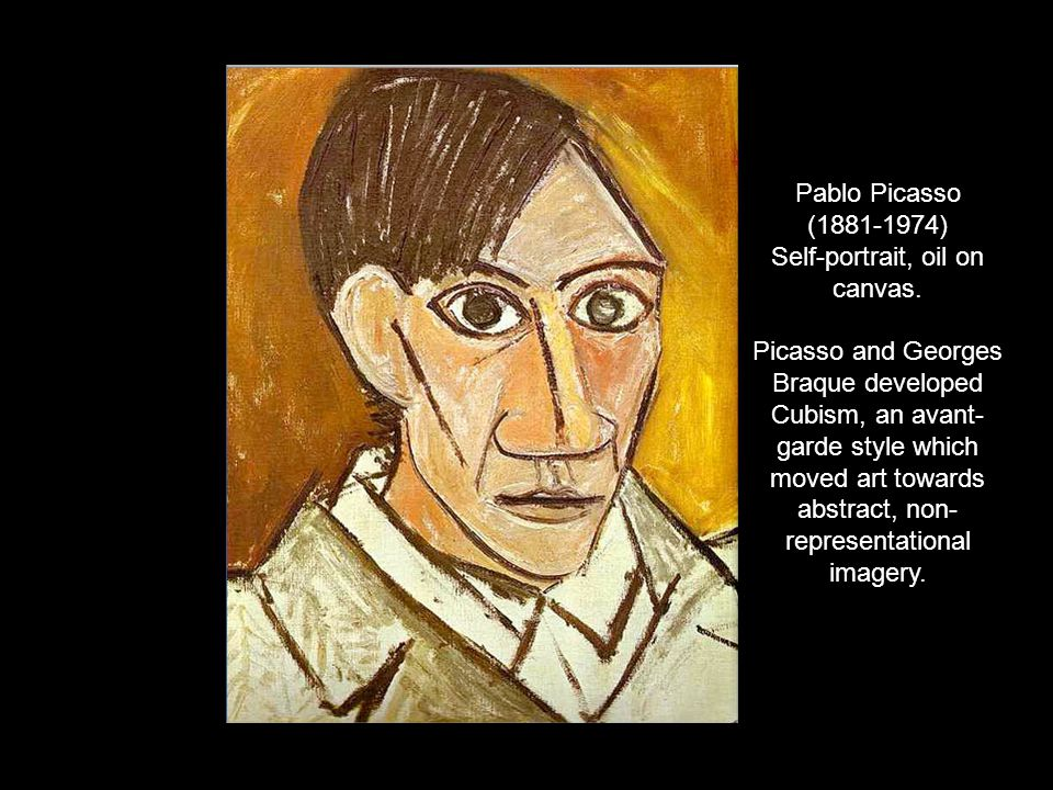 Pablo Picasso ( ) Self-portrait, oil on canvas.