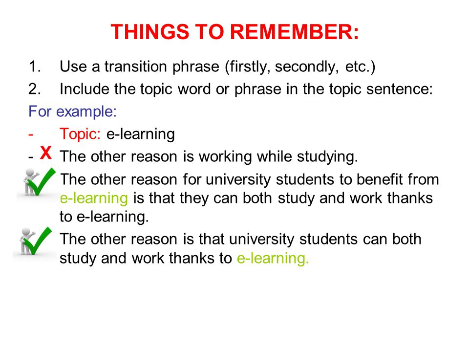 Example of topic sentence and thesis statement