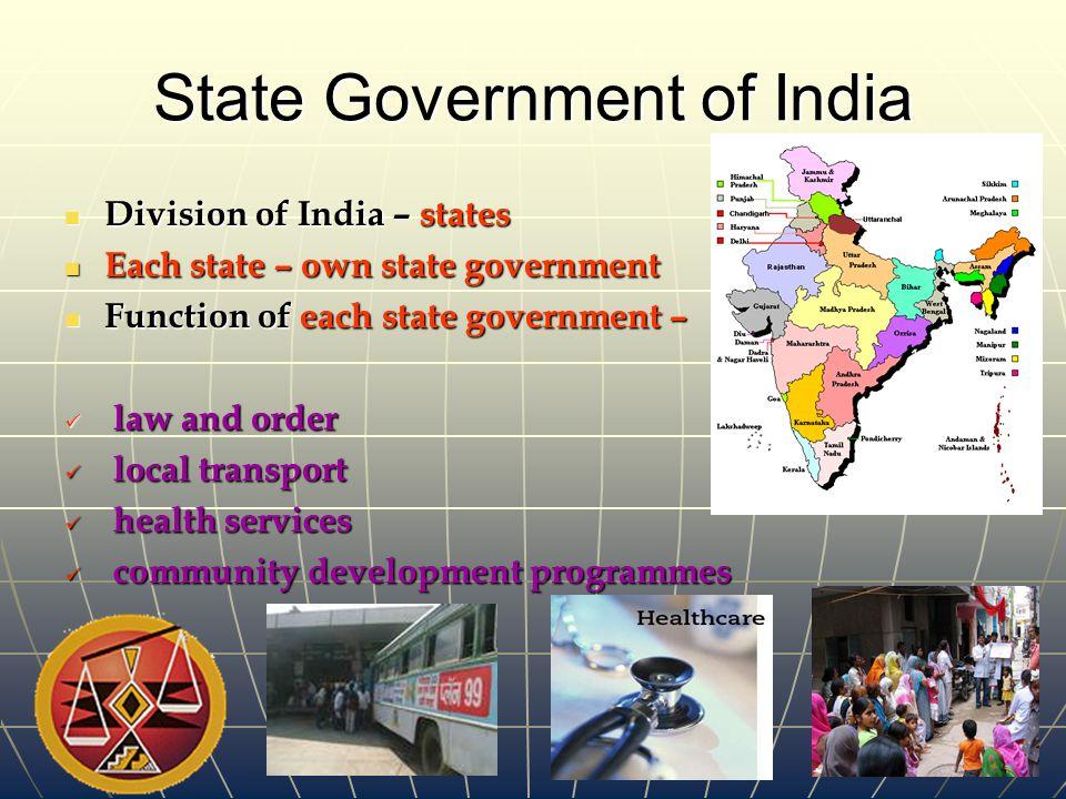 State Government of India State Government of India
