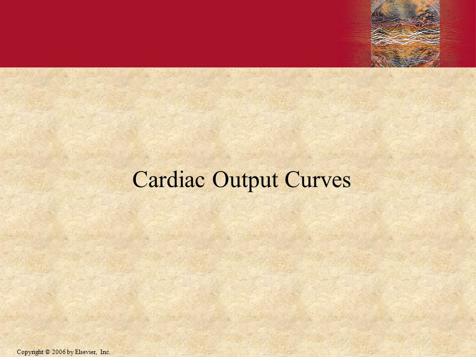 Copyright © 2006 by Elsevier, Inc. Cardiac Output Curves