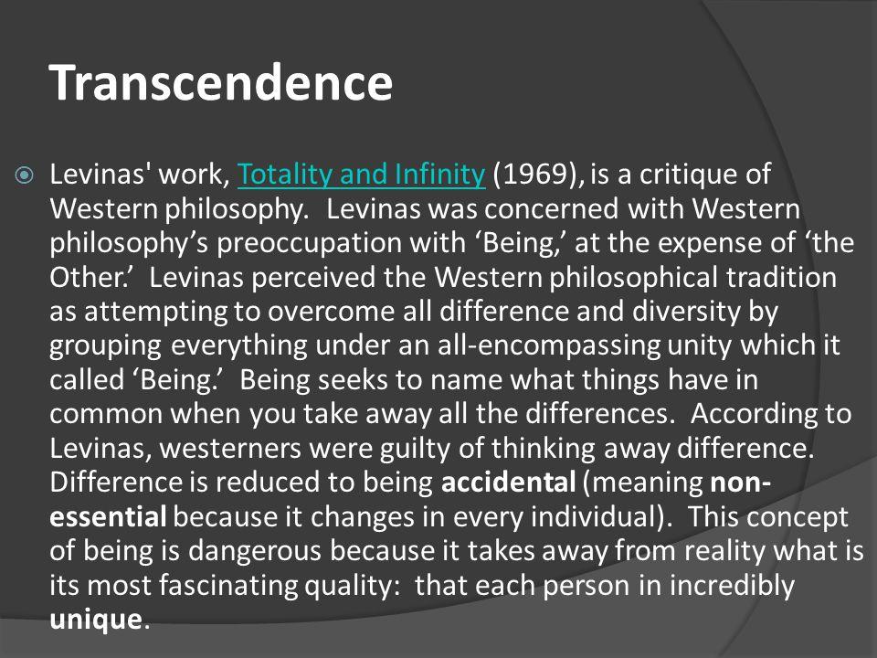levinas vis vis the other essay