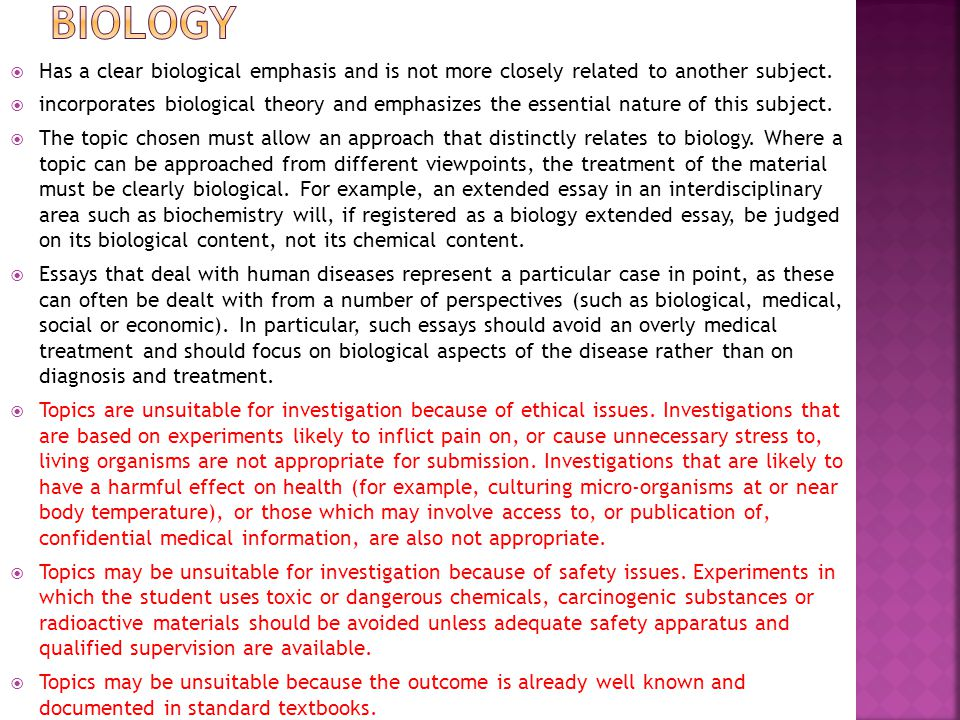 topics of study in radiobiology biology essay We will write a custom essay sample on bon essay topics for you for only $1390/page order now topics of study in radiobiology biology essay  writing and crush.