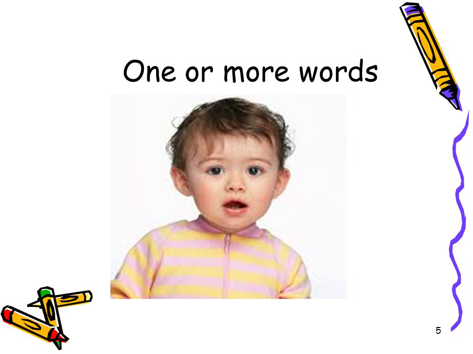 One or more words 5