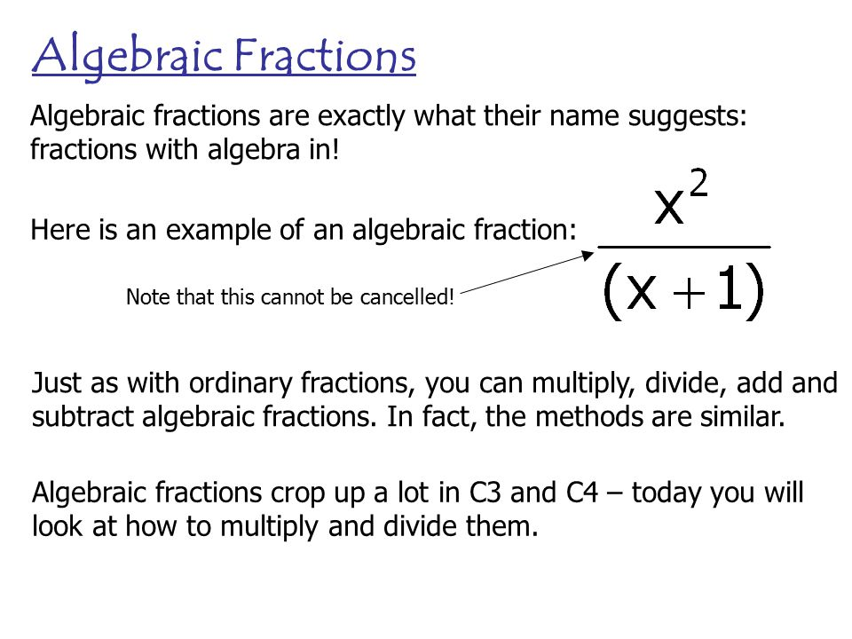 math worksheet : algebraic fractions just as with ordinary fractions you can  : Adding And Subtracting Algebraic Fractions Worksheet