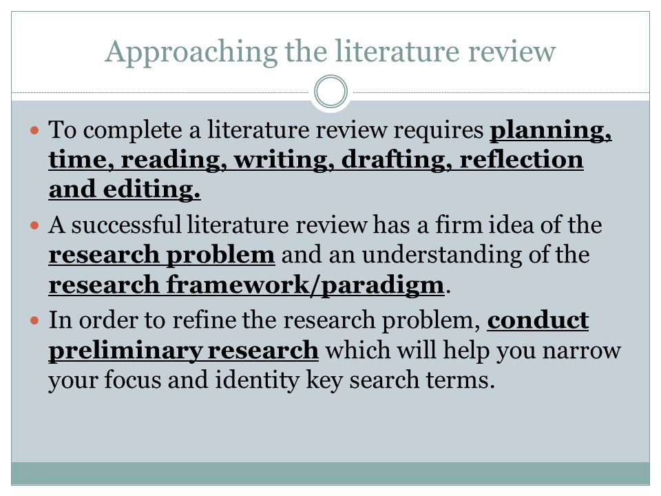 literature review drafts