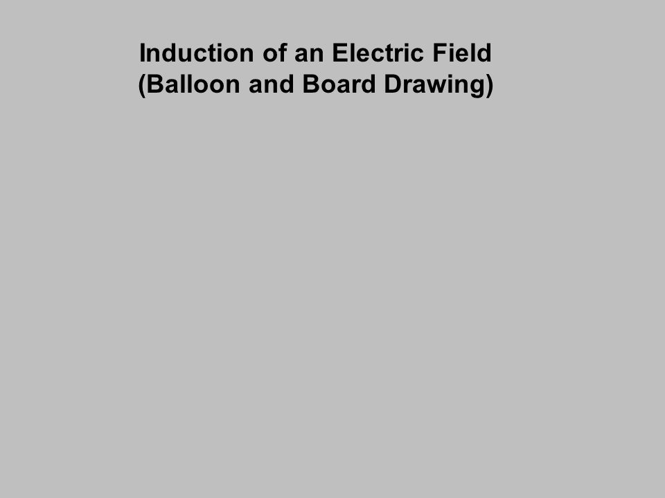 Induction of an Electric Field (Balloon and Board Drawing)