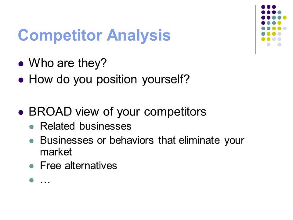 Business plan customer analysis