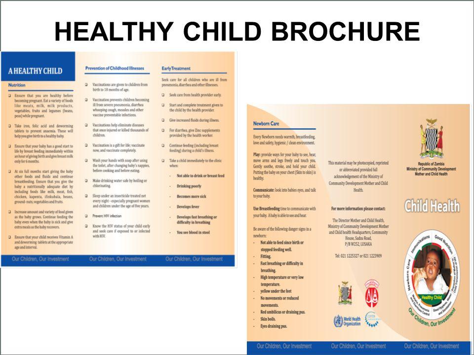 HEALTHY CHILD BROCHURE