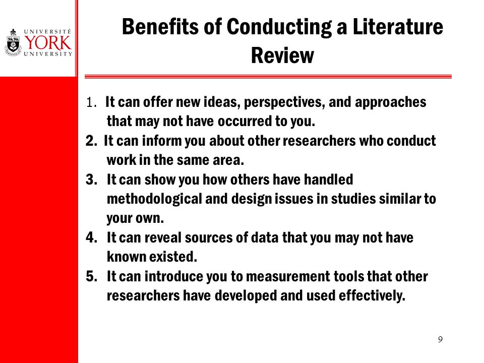 sources of data for literature review