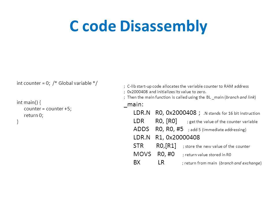 ARM C Language & Assembler. Using C instead of Java (or Python, or ...