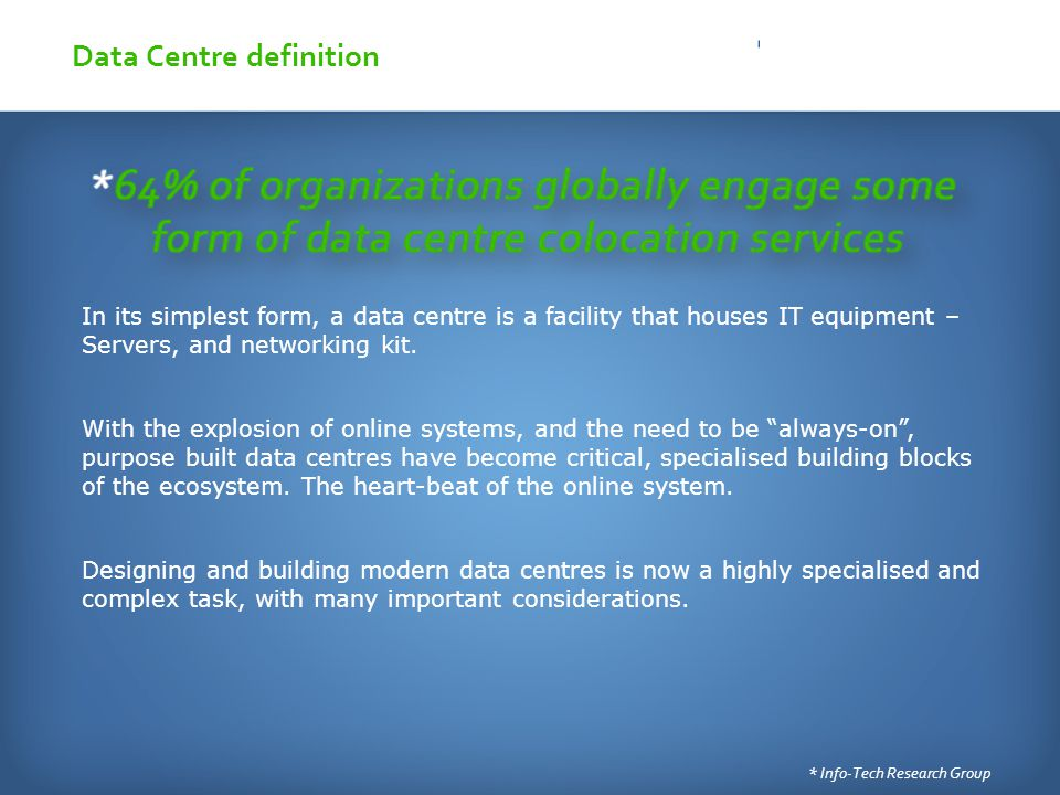 IXP & Neutral Colocation Symbiosis SAFNOG Data Centre definition ...