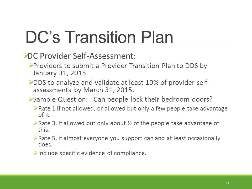 Home And Community Based Services (Hcbs) Settings Rule D.C.'S