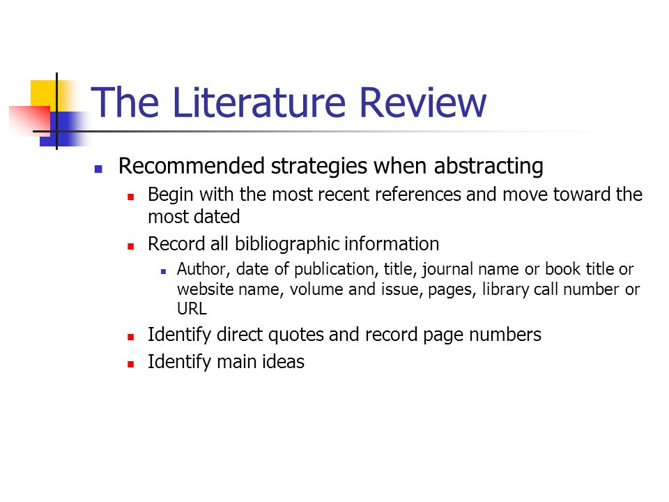 How To Conclude A Literature Review Example