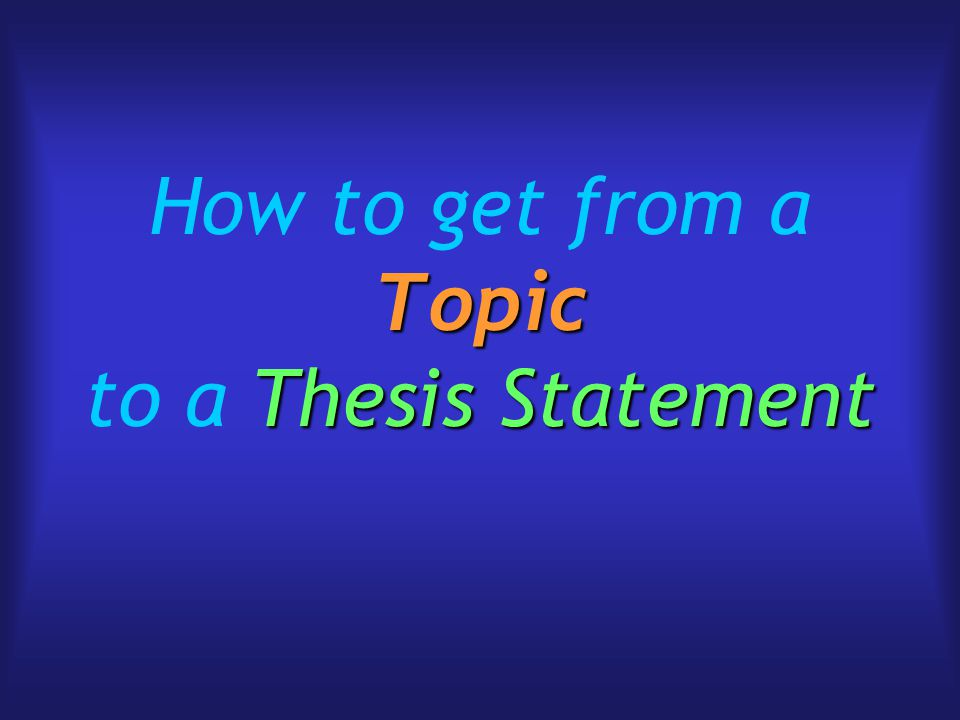 thesis statement for creation vs evolution paper