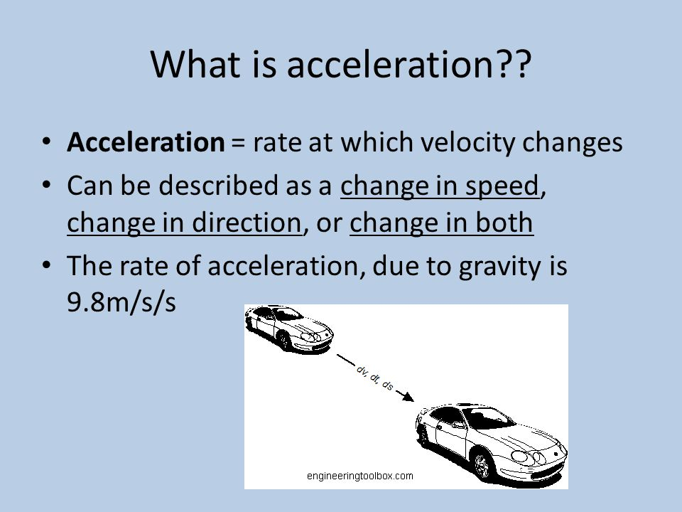 What is acceleration .