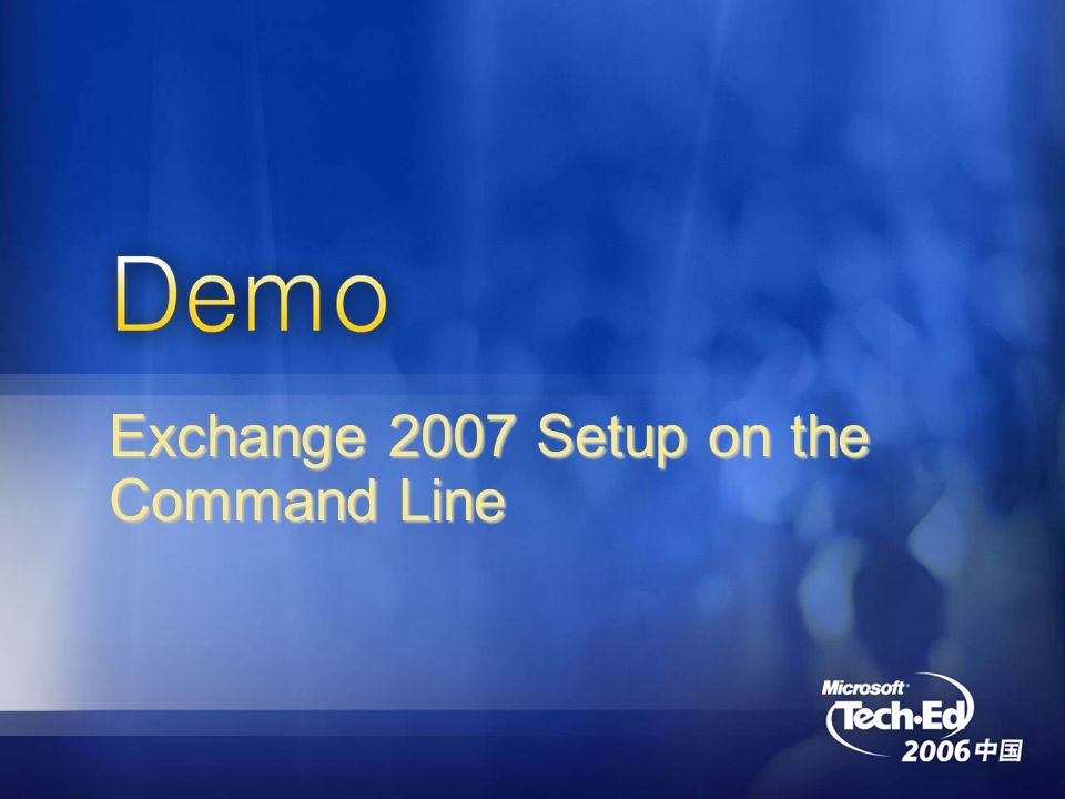 Exchange 2007 Setup on the Command Line