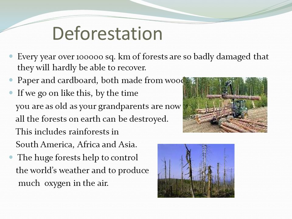 Deforestation Every year over sq.