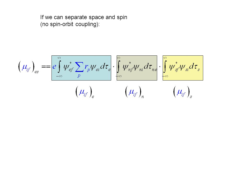 If we can separate space and spin (no spin-orbit coupling):