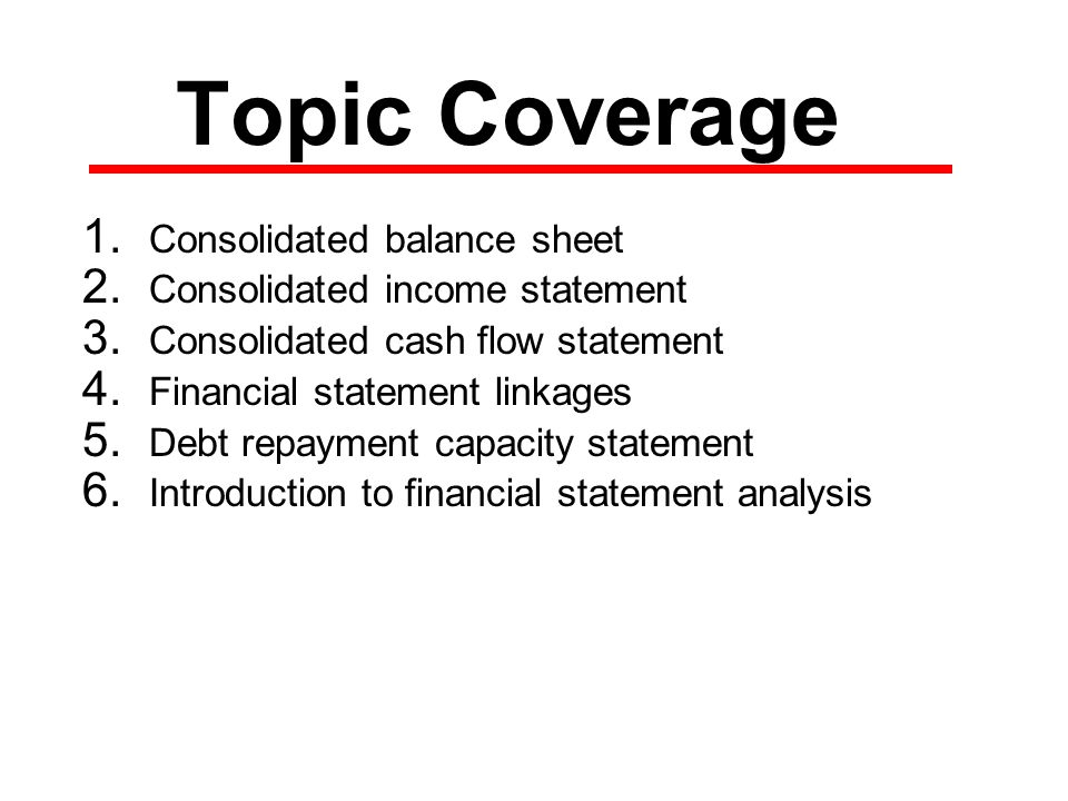AGEC 432 – Finance Spring 2007 Structure of Financial Statements