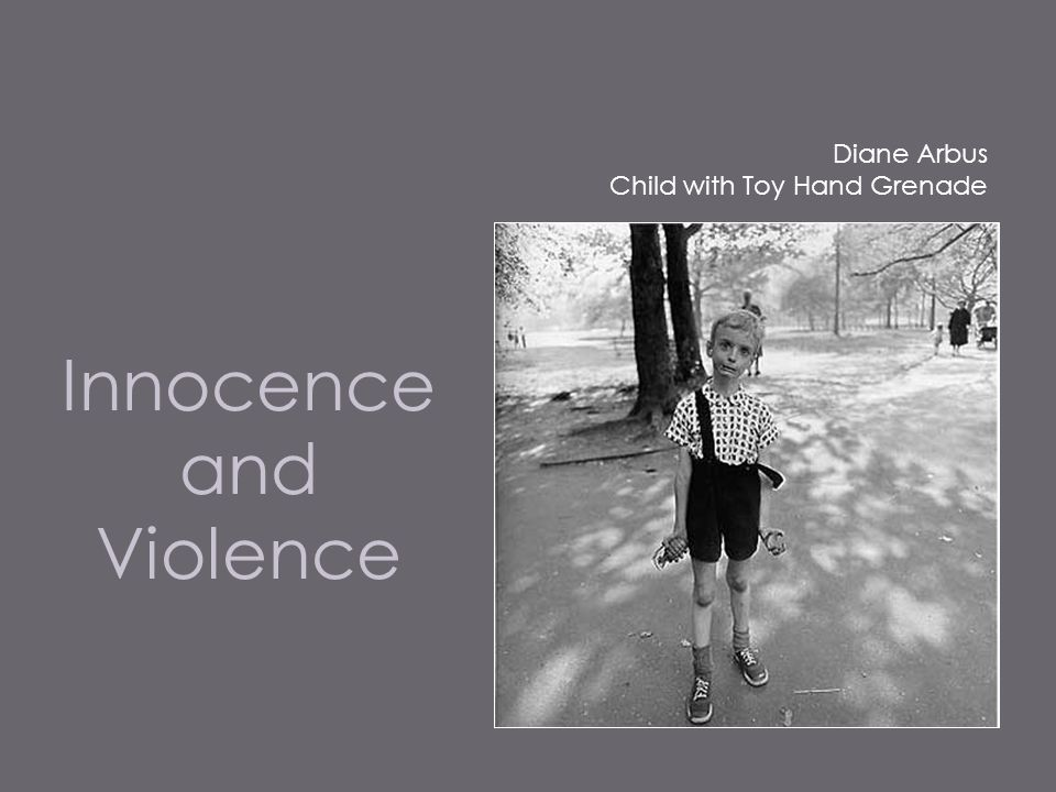 child with toy hand grenade diane arbus