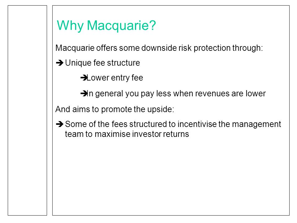 Why Macquarie.