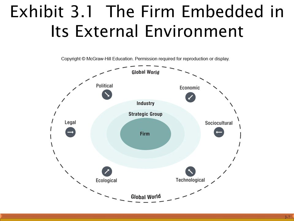 3-7 Exhibit 3.1 The Firm Embedded in Its External Environment