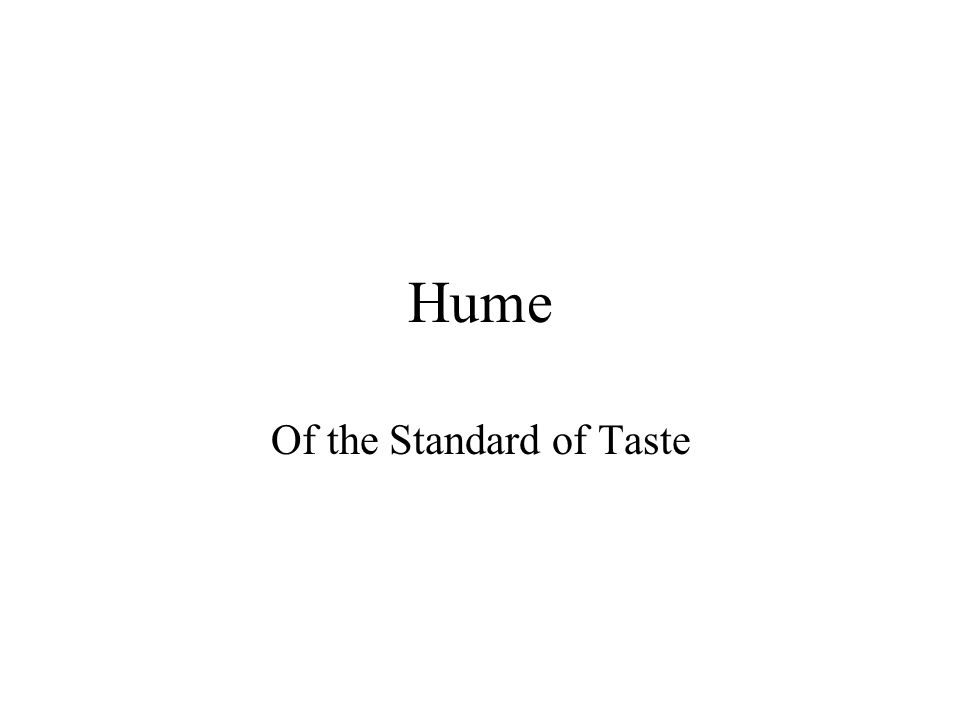 David hume essays on taste