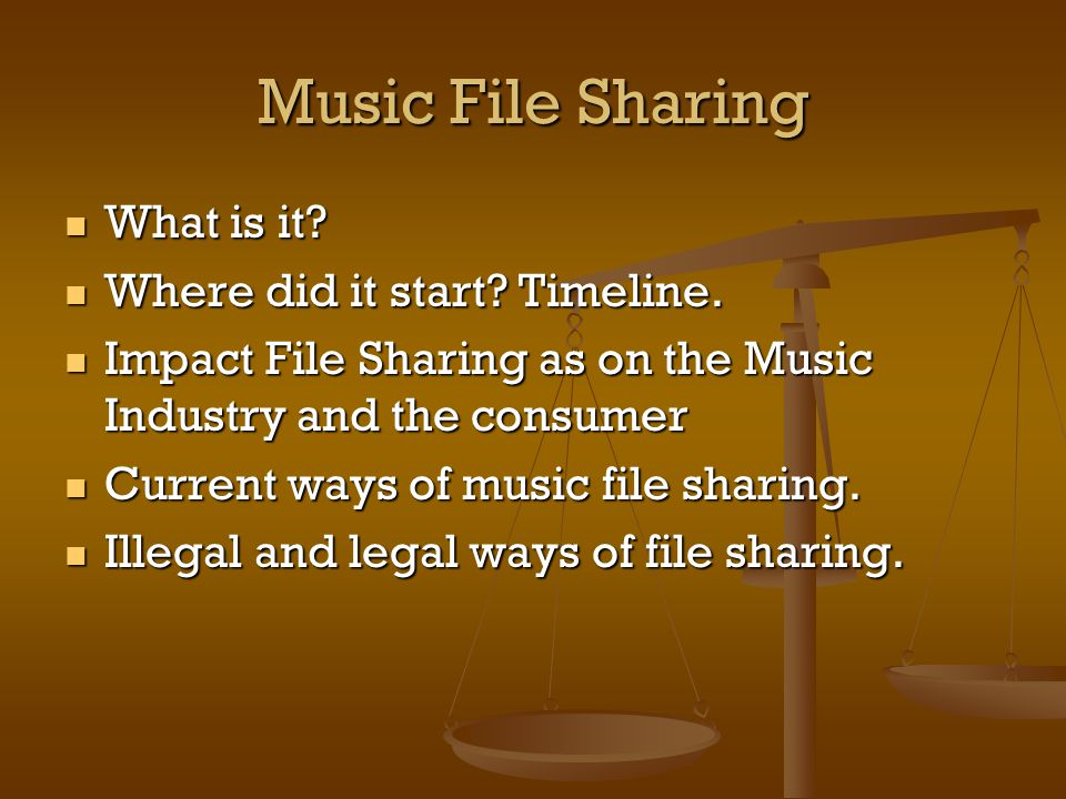 Music File Sharing What is it. What is it. Where did it start.