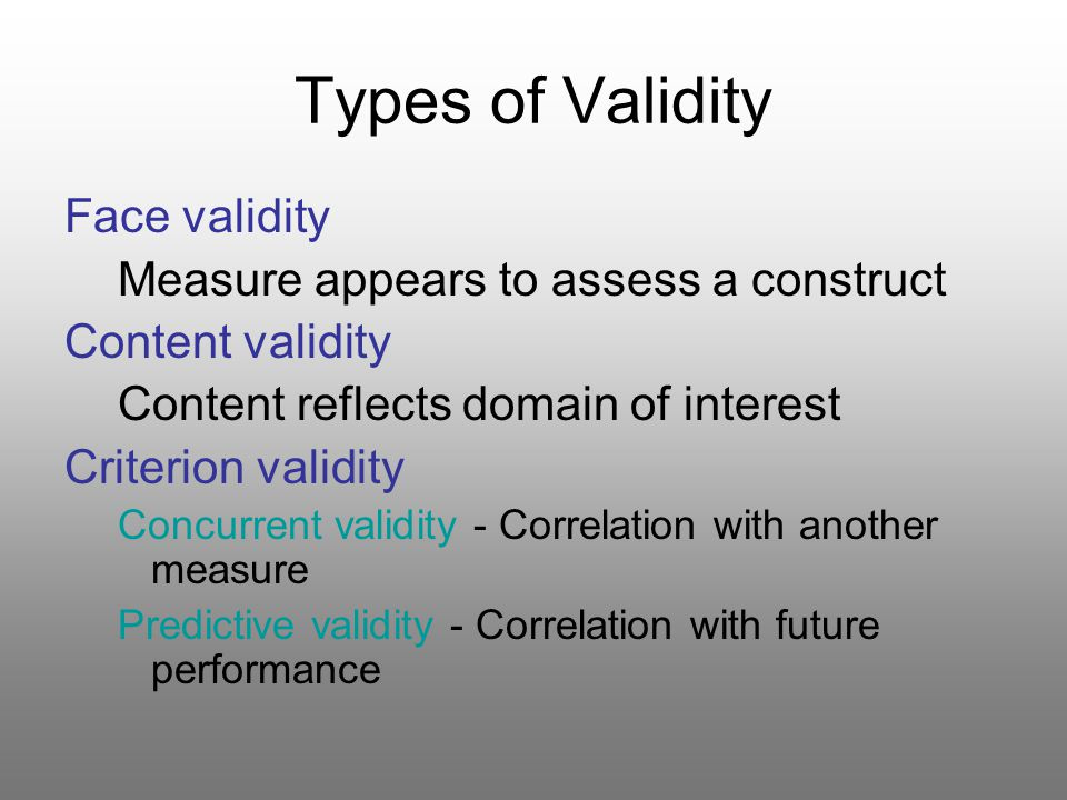 thesis reliability and validity Page 1 student affairs assessment quantitative research: reliability and validity.