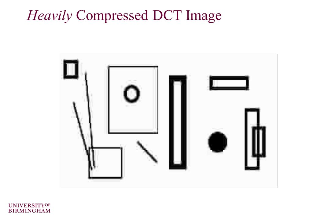 Heavily Compressed DCT Image