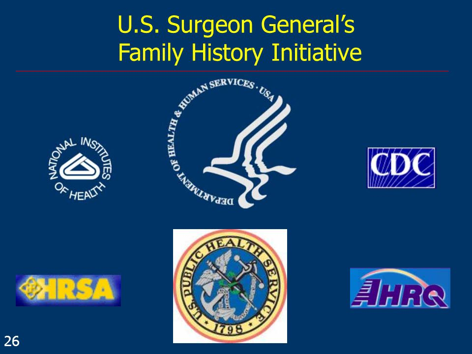 U.S. Surgeon General's Family History Initiative 26
