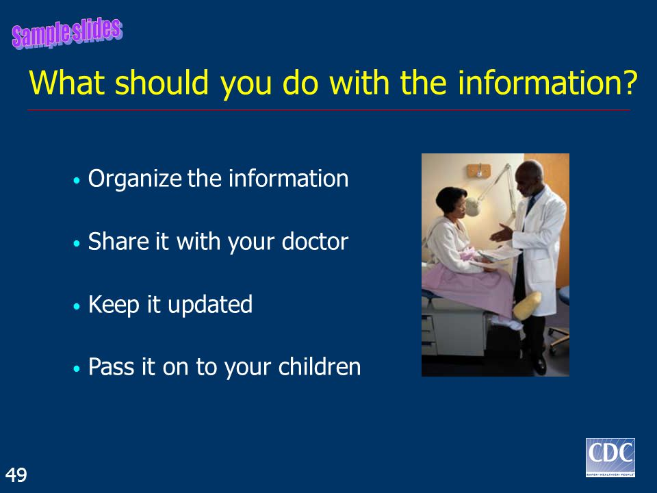 What should you do with the information.