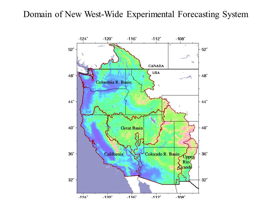 Domain of New West-Wide Experimental Forecasting System