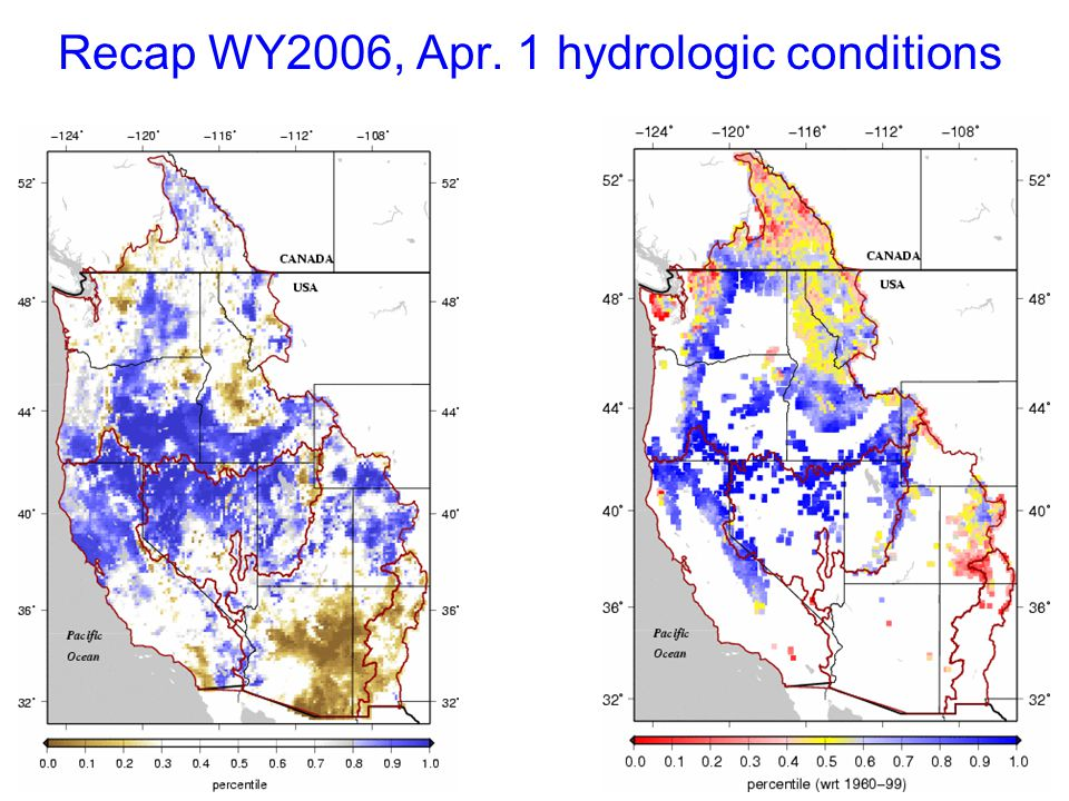 Recap WY2006, Apr. 1 hydrologic conditions