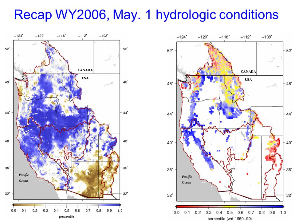 Recap WY2006, May. 1 hydrologic conditions