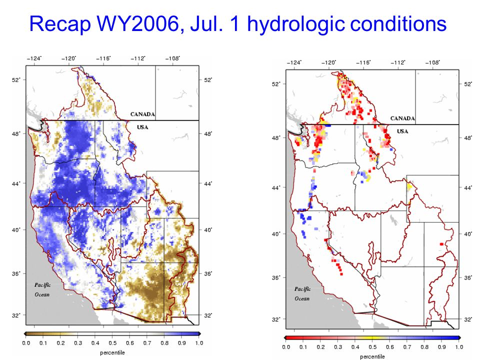 Recap WY2006, Jul. 1 hydrologic conditions
