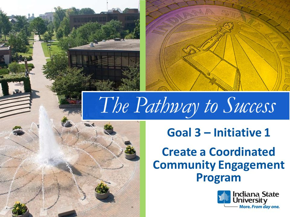 The Pathway to Success Create a Coordinated Community Engagement Program Goal 3 – Initiative 1