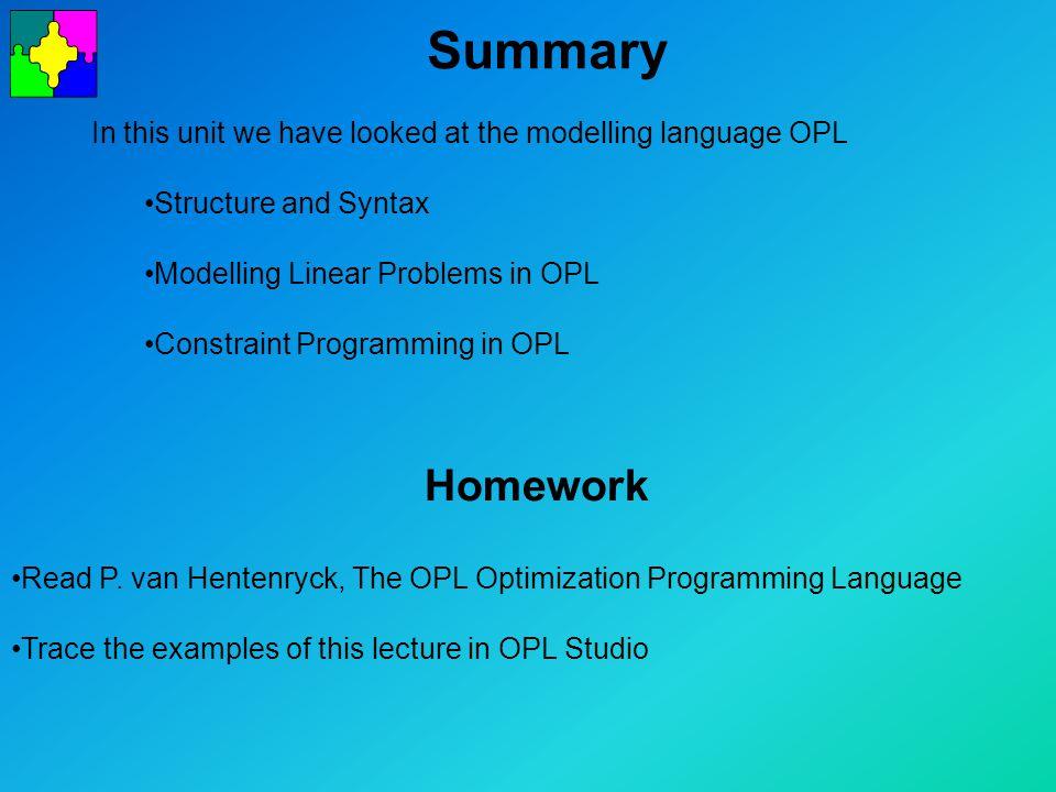Summary Homework Read P.